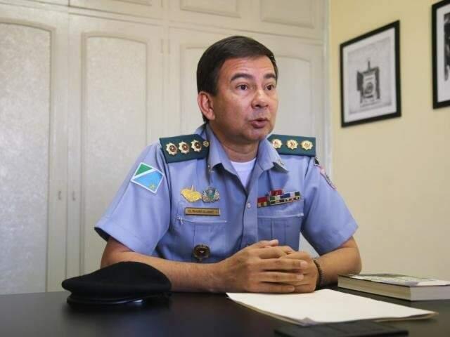 O presidente da Associação dos Oficiais Militares de MS, Alírio Vilassanti, que assina a nota em resposta a juiz. (Foto: Arquivo)