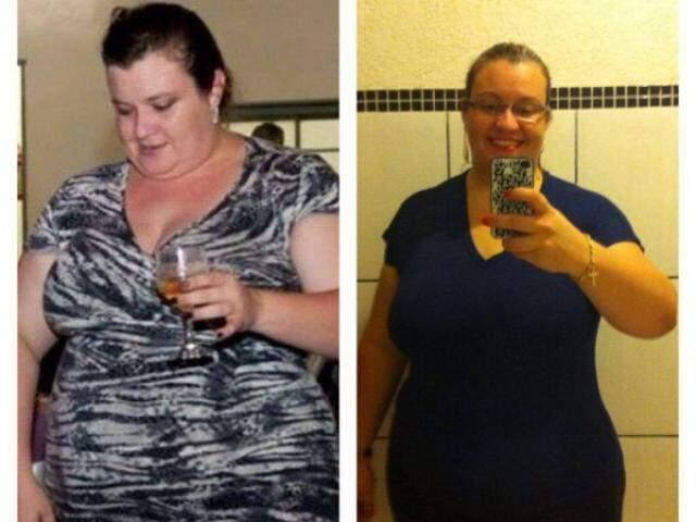 Priscila perdeu 40kg após médico duvidar de sua capacidade para emagrecer sem cirurgia (Foto: arquivo pessoal)