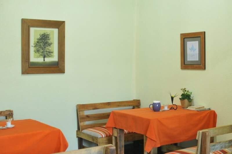 Anda Café tem quadros e exposições artísticas (Foto: Alcides Neto)