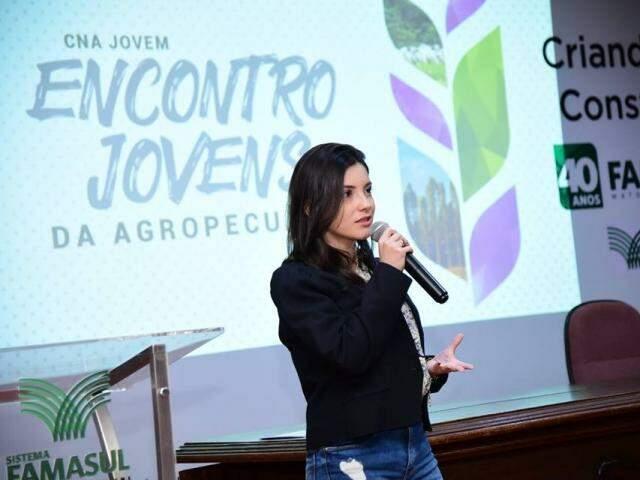 Roberta Maia destacou espaço aberto pela Famasul para os debates