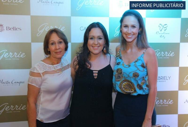 Ivanir Cortez, Danielle Cortez e Juliana Ferreira  - Foto Divulgação
