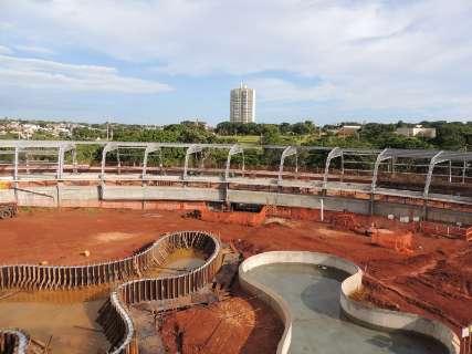Novas estruturas são instaladas e Aquário do Pantanal ganha forma