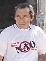 Francisco Anselmo morreu em 2005, após ter ateado fogo ao corpo, durante protesto contra instalação de usinas no Pantanal. (Foto: reprodução)