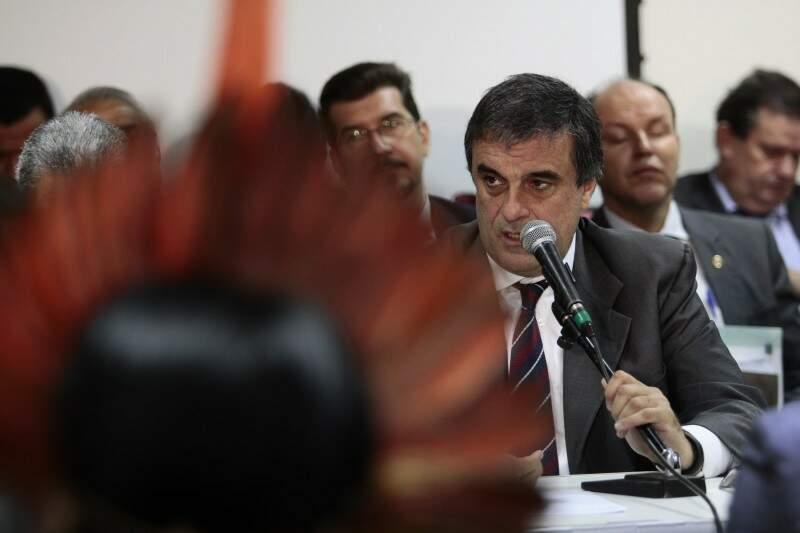 Então ministro, José Eduardo Cardozo veio várias vezes a MS. (Foto: Cleber Gellio/Arquivo)