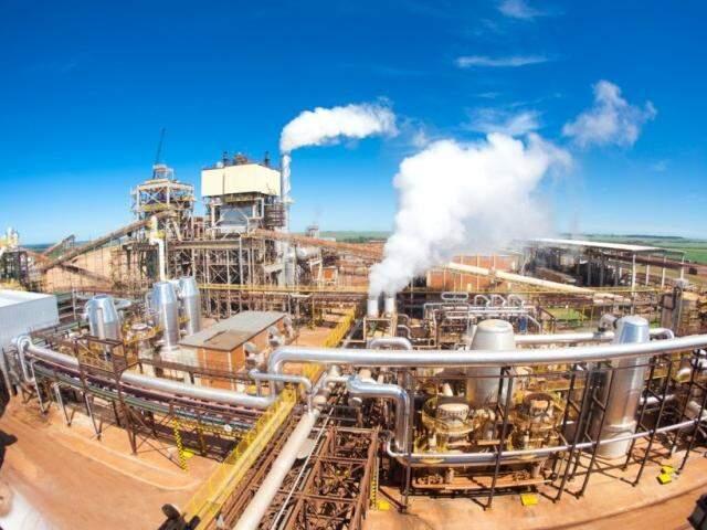 Usina São Fernando, localizada em Dourados (Foto: Arquivo)