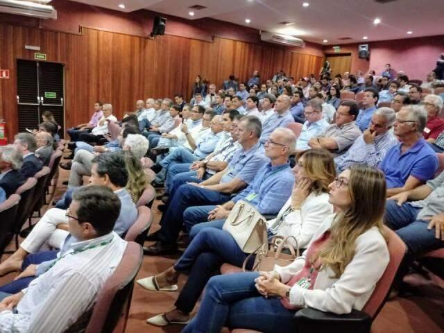 Auditório cheio durante evento na Famasul para celebrar selo nacional (Foto: divulgação / Semagro)
