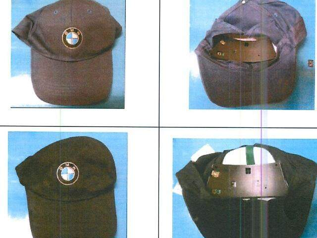 Dis bonés espião foram apreendidos com arsenal de arma guerra em 19 de maio. (Foto: Reprodução)