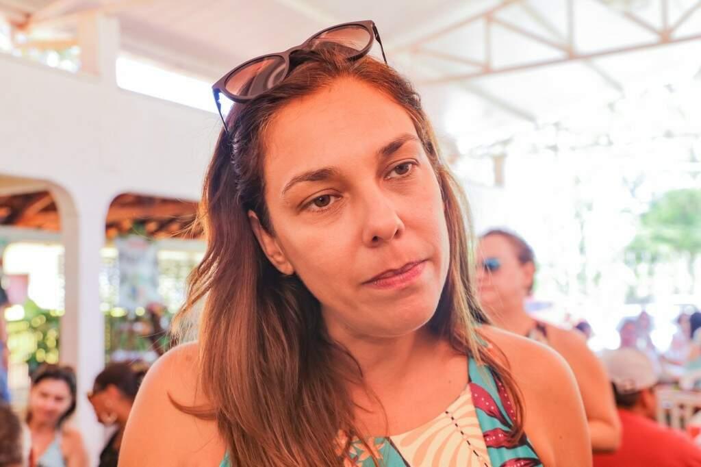 Renata é a proprietária da estância e neta de Corina Guazina.(Foto: Kísie Ainoã)
