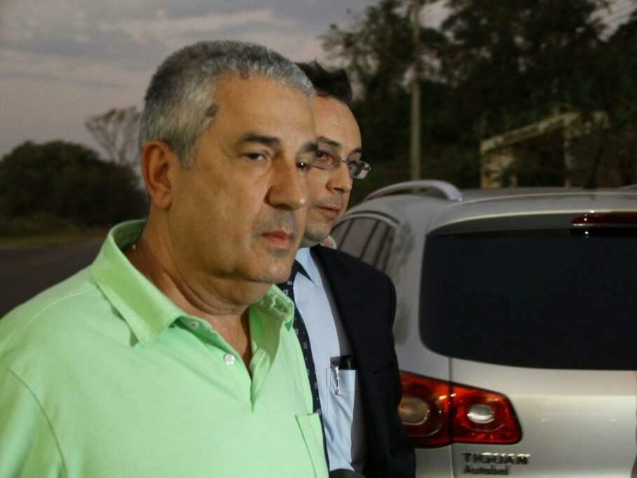 João Amorim, apontado como o articulador do esquema, chegando à sede do Gaeco para depor (Foto: Marcos Ermínio/Arquivo)
