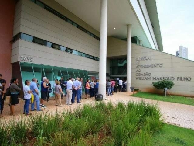 Central de Atendimento ao Cidadão é um dos locais para entregar os cupons (Foto: Arquivo/Campo Grande News)