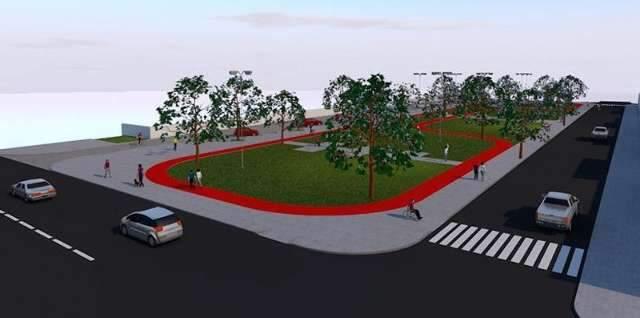 Praça para lazer e esporte será construída em espaço de antiga feira