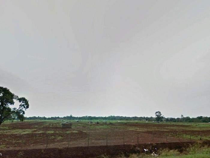 Acampamento Ñu Verá, em Dourados (Foto: Google Earth/Divulgação MPF).