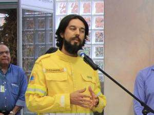 Alexandre Pereira, analista ambiental do Ibama. (Foto: Marina Pacheco)