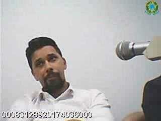 João Paulo Calves, em audiência antes de ser preso em operação da PF