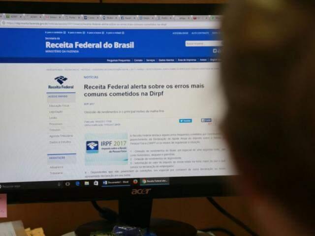 O programa gerador da declaração está disponível e pode ser baixado no computador, celular ou tablet (Foto: Marcos Ermínio)