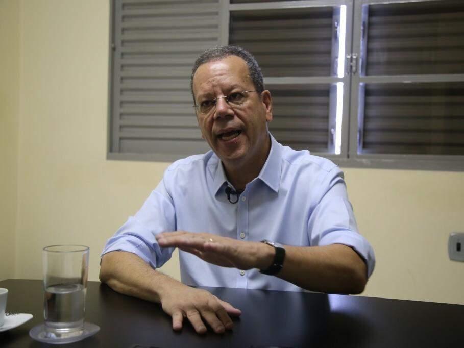 Marcelo Bluma, do PV, durante entrevista ao Campo Grande News. (Foto: Arquivo).