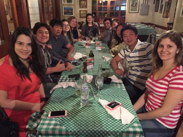 Jantar de comemoração pelo aniversário de Gilson, na Cantina Romana, no último dia 29.
