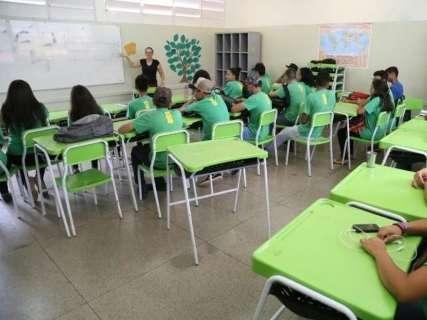 Nas salas de aula de MS, 7% dos professores têm apenas ensino médio