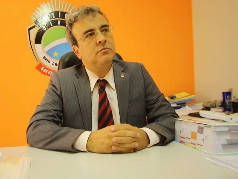 Delegado Fábio Sampaio, da Delegacia Especializada em Atendimento à Criança e ao Adolescente (Foto: Andrré Bittar)