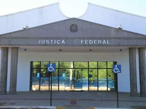 Prédio da Justiça Federal em Campo Grande. (Foto: Fernando Antunes/Arquivo)