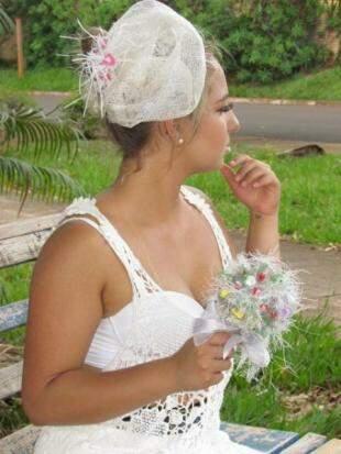 Buque de noiva de ráfia...