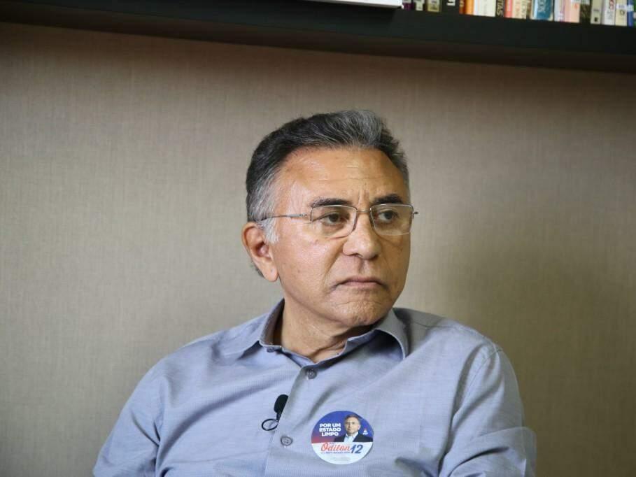 Odilon de Oliveira, do PDT, durante entrevista no Campo Grande News. (Foto: Guilherme Rosa/Arquivo).