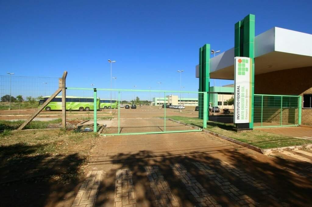 Entrada do Instituto Federal de Mato Grosso do Sul de Campo Grande (Foto: André Bittar/ Arquivo)