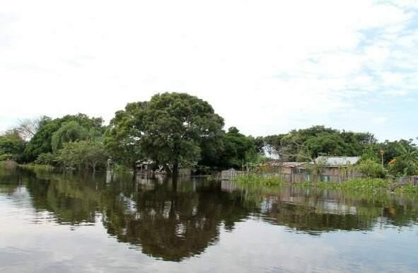 Cheia do rio Paraguai atinge 5,38 metros na estação de Ladário (Foto: Prefeitura de Corumbá)