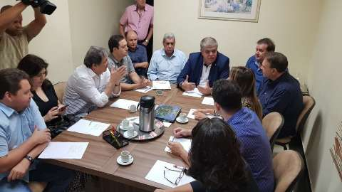 Reunião no PMDB tem Marun, senadores, deputados e Puccinelli