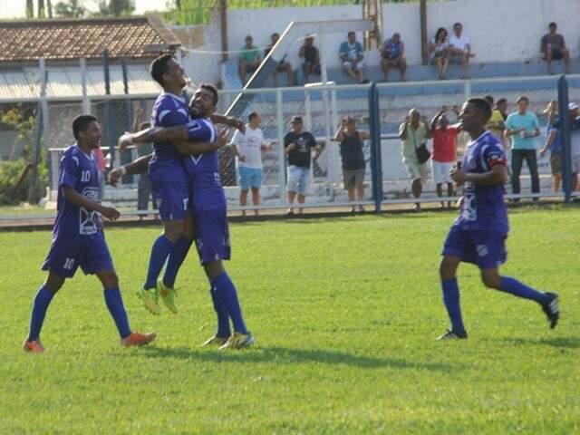 Equipe do Aquidauanense durante o campeonato estadual (Foto: Divulgação)