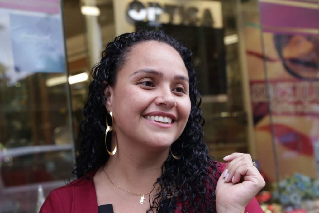 A administradora Geiziane era só sorrisos, porque superou as expectativas. (Foto: Kísie Ainoã)