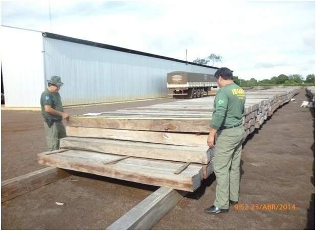 Equipes do Ibama fizeram fiscalização em empresas da região sul do Estado (Foto: Werneck Almada/Ibama)
