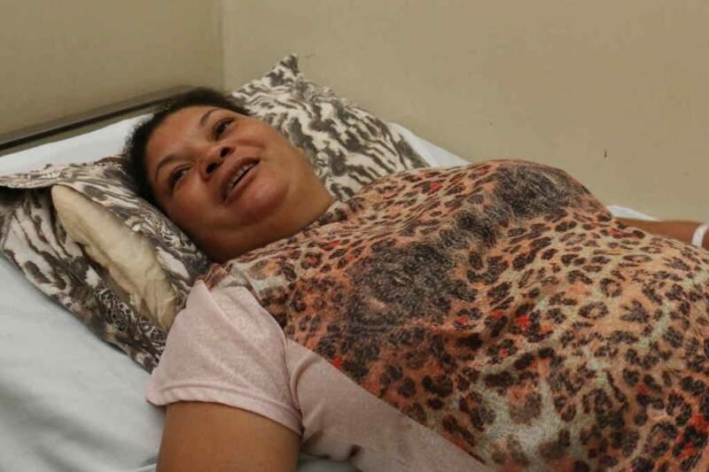 Solange da Silva Maria, 39 anos, fez a cirurgia na quinta-feira. (Foto: Divulgação/ Notícias MS)