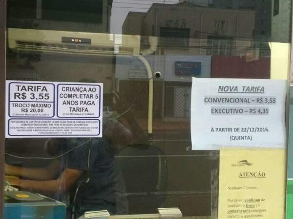 Novo preço da tarifa começou a ser cobrado no dia 22. (Foto: Viviane Oliveira)