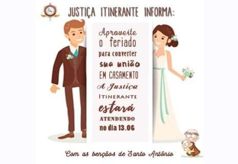 Famosa por casamentos, Justiça Itinerante funcionará no dia de Santo Antônio