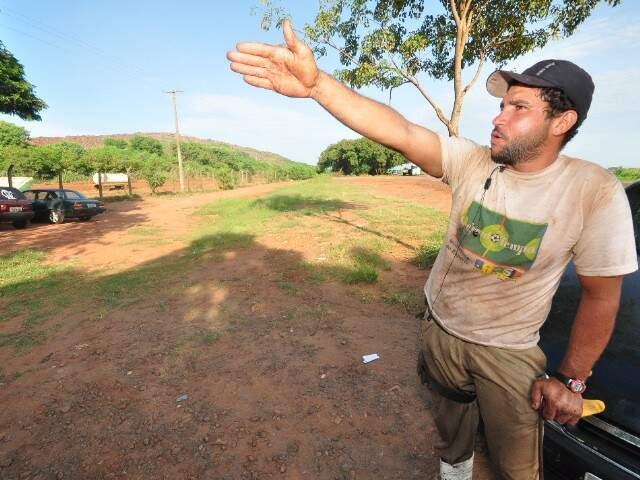 """""""A esperança é de sair o mais rápido possível"""", diz o catador Rodrigo Leão Marques. (Foto: Luciano Muta)"""
