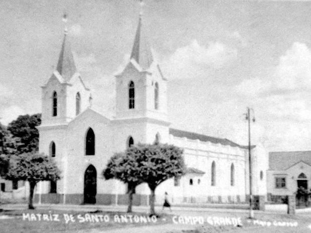 Igreja matriz que foi alvo de disputa e funcionou onde está construída a Catedral de Santo Antônio (Foto: Arca)