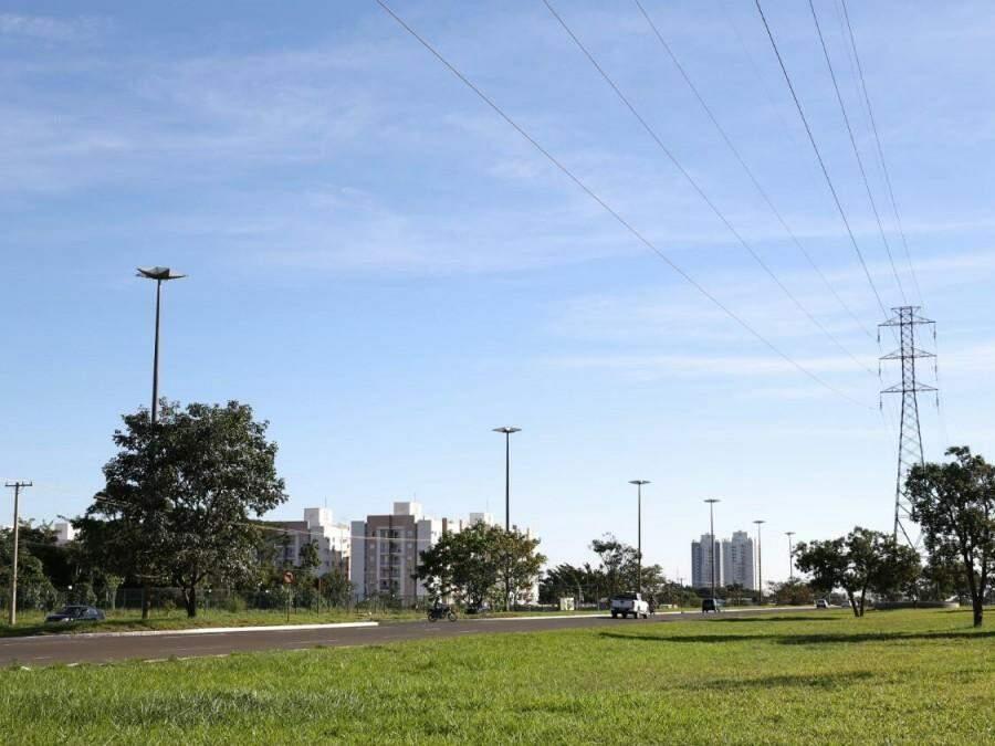 Registro da tarde desta terça-feira em Campo Grande, que marca 29ºC. (Foto: Paulo Francis).