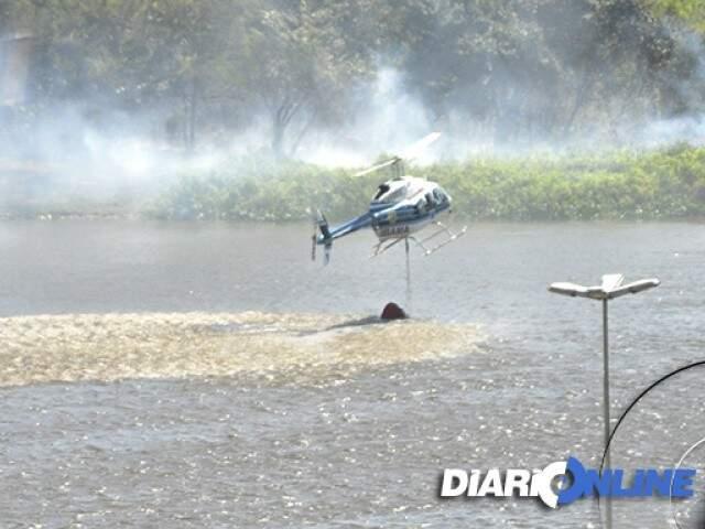 Em 2012, aeronave veio combater incêndios em Corumbá. (Foto: Anderson Gallo/Diário Online)