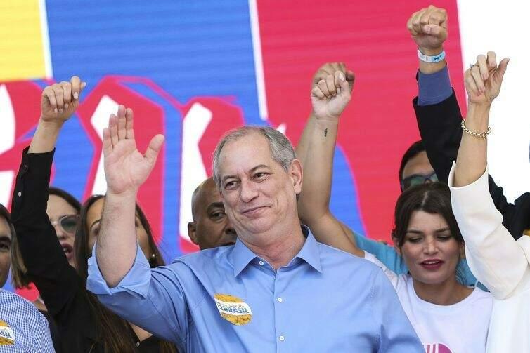 Ciro Gomes durante convenção nacional do PDT (Foto: Marcelo Camargo/Agência Brasil)