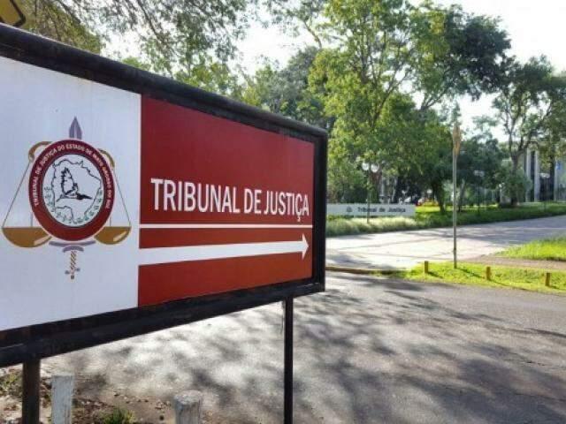 Entrada do Tribunal de Justiça de MS, no Parque dos Poderes (Foto: Divulgação)