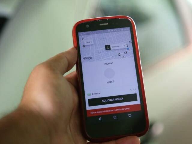 Serviço que atende chamadas por aplicativo começou a operar em Campo Grande em setembro de 2016 (Foto: Marcos Ermínio)