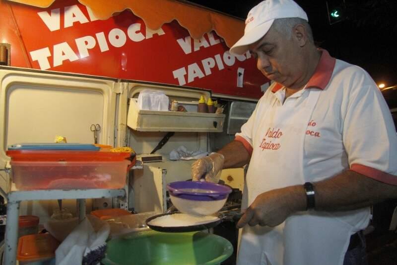 A tapiocaria funciona de quarta-feira a domingo, a partir das 23 horas. (Foto: Marcelo Victor)