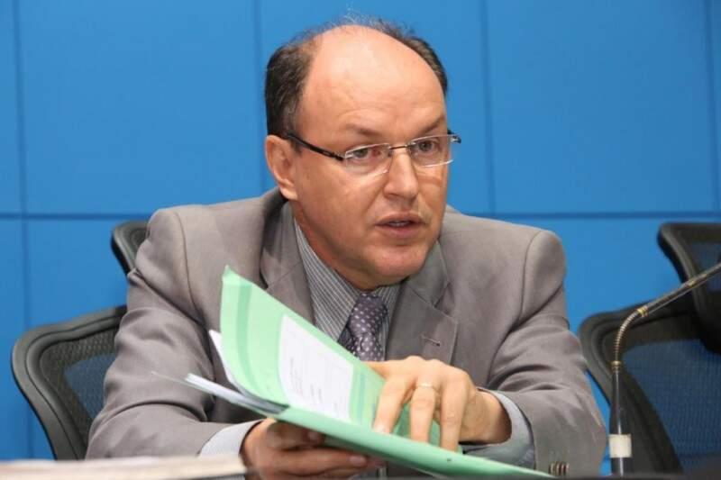 Junior Mochi conseguiu apoio necessário para sua reeleição na presidência da Assembleia (Foto: Assessoria/ALMS)