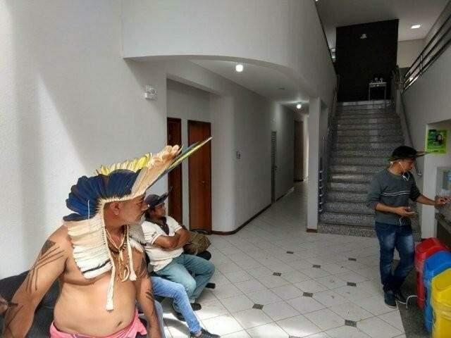 Em abril de 2018, sede da Funai em Campo Grande foi ocupada pelos indígenas que pedia a exoneração de Paulo Rios (Foto/Arquivo: Liniker Ribeiro)