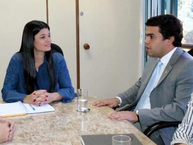 Deputados federais do PSDB, Rose Modesto e Beto Pereira (Foto: André Maganha - Assessoria)