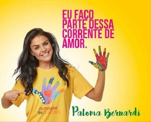A bela atriz Paloma Bernardi também foi outra global a posar na campanha. (Foto: Divulgação)