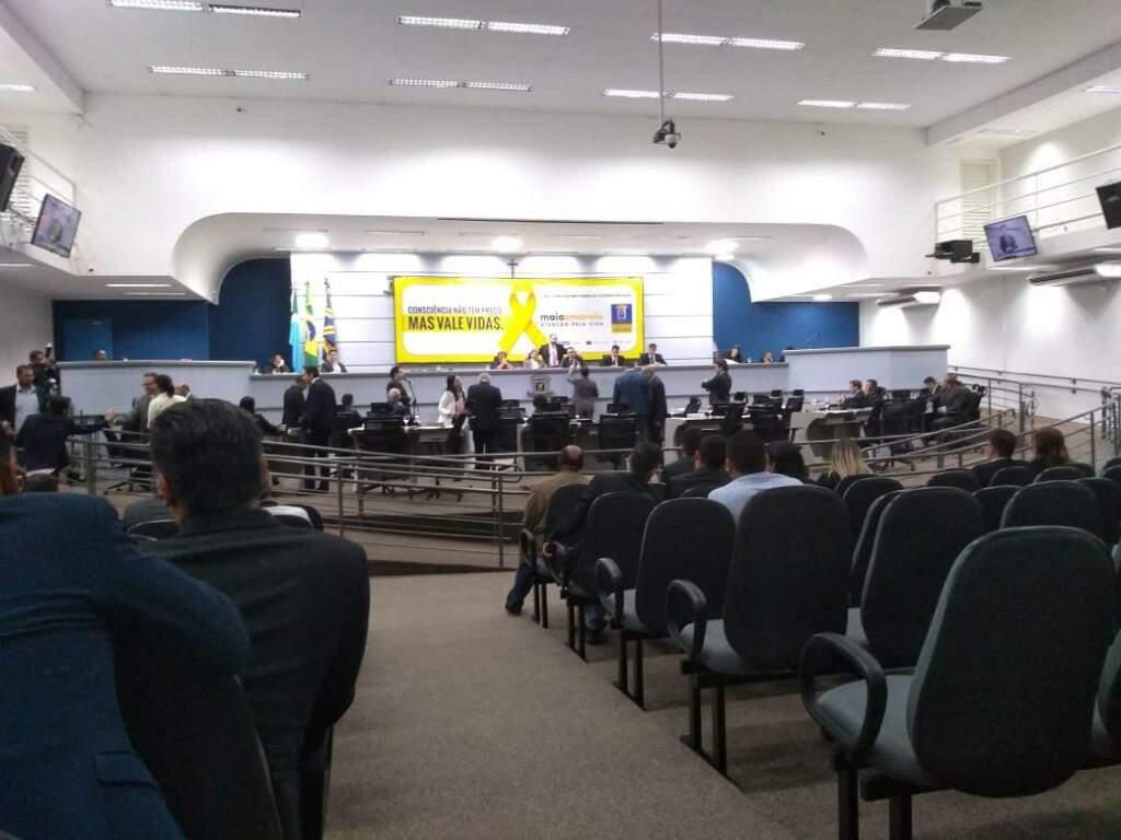 Sessão desta terça-feira na Câmara Municipal (Foto: Fernanda Palheta)