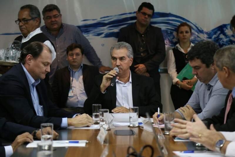 Governador Reinaldo Azambuja disse que Mato Grosso do Sul será o primeiro estado do Brasil a ter todos os municípios atendidos por esgotamento (Fotos: Fernando Antunes)