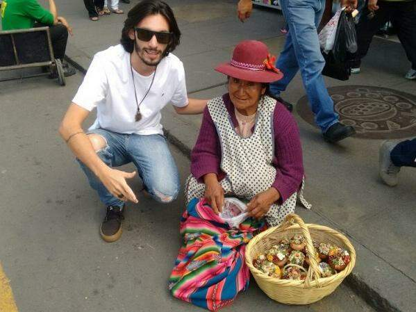 Diego Nunes saiu de Campo Grande em fevereiro, para ser voluntário do projeto Cidadão Global.(Foto: Arquivo Pessoal)